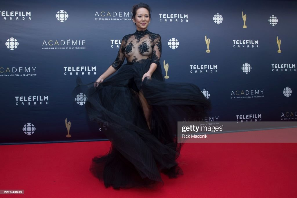 Steph Song. Canadian Screen Awards red carpet at Sony Centre for the Performing Arts ahead of the show.