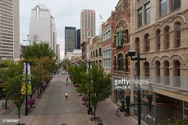 Stephan Ave pedestrian mall in Calgary
