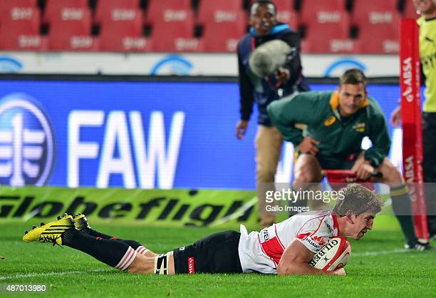 Stephan de Wit of Lions during the Absa Currie Cup match between Xerox Golden Lions and EP Kings at Emirates Airline Park on September 05 2015 in...