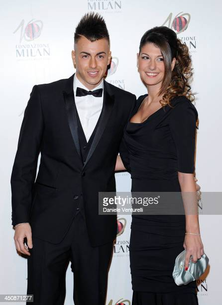 Stephan El Shaarawy and Ester Giordano attend Fondazione Milan 10th Anniversary Gala on November 20, 2013 in Milan, Italy.
