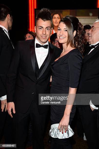 Stephan El Shaarawy and Ester Giordano attend the Fondazione Milan 10th Anniversary Gala on November 20, 2013 in Milan, Italy.