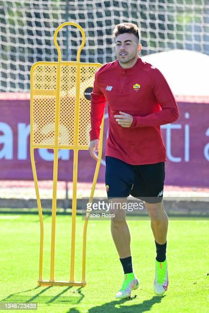 Stephan El Shaarawy during a training session at Centro Sportivo Fulvio Bernardini on October 15, 2021 in Rome, Italy.