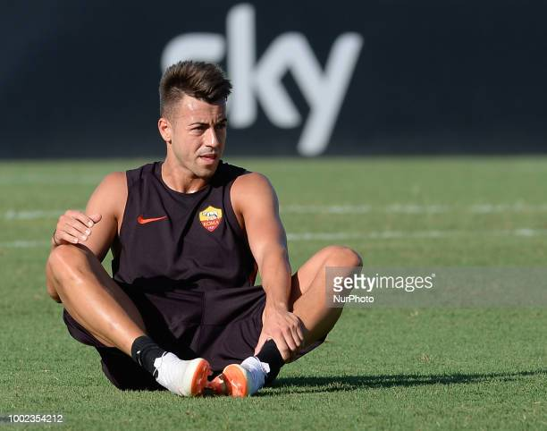 Stephan El Shaarawy during training session open to the fans of AS Roma preseason retreat at Stadio Tre Fontane on july 19 2018 in Rome Italy