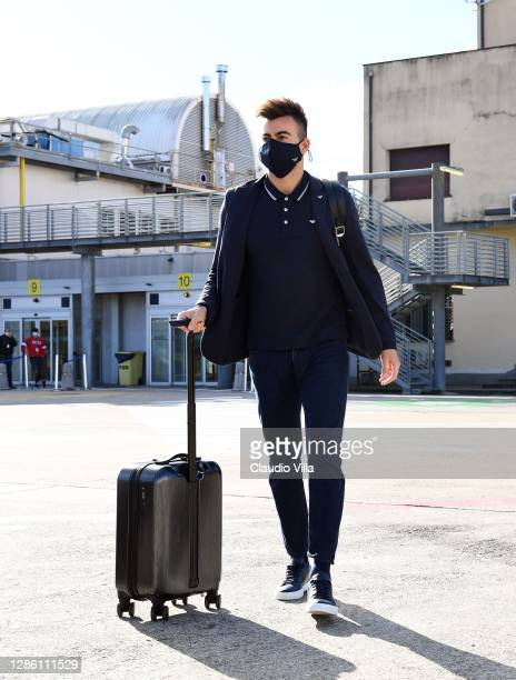 Stephan El Shaarawy makes his way to the airplane before leaving for Sarajevo ahead of the UEFA Nations League match between Bosnia-Herzegovina and...