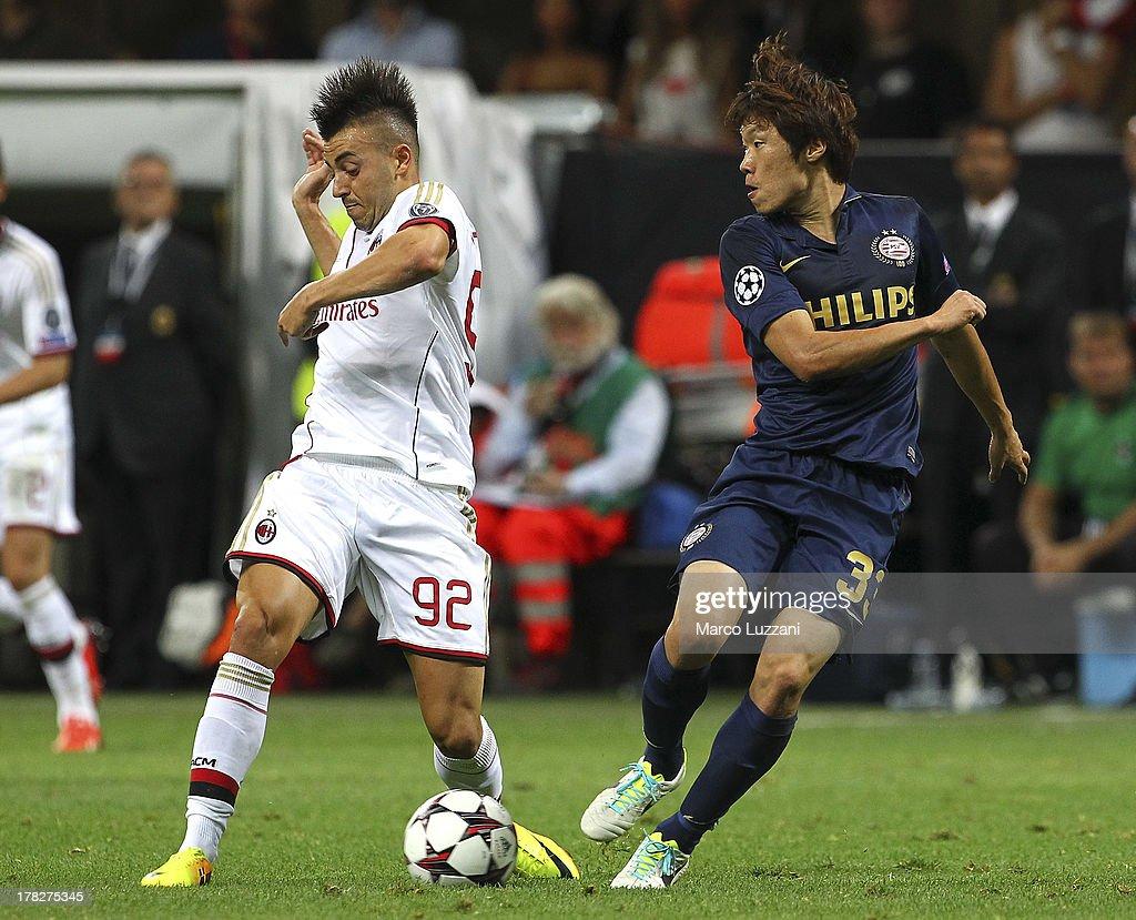 AC Milan v PSV Eindhoven - UEFA Champions League Play-offs: Second Leg