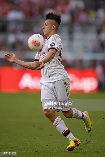 Stephan El Shaarawy of AC Milan in action during the Audi cup match between Manchester City and AC Milan at Allianz Arena on July 31 2013 in Munich...