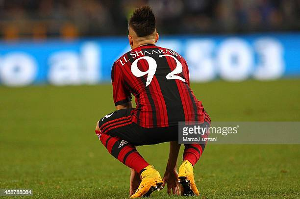 Stephan El Shaarawy of AC Milan looks on at the end of the Serie A match between UC Sampdoria and AC Milan at Stadio Luigi Ferraris on November 8...