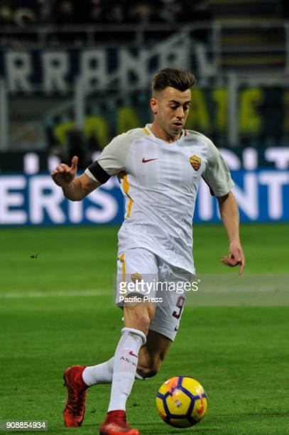 Stephan El Shaarawy of AS Roma during Serie A football FC Inter versus AS Roma FC inter and AS Roma finish the match 11