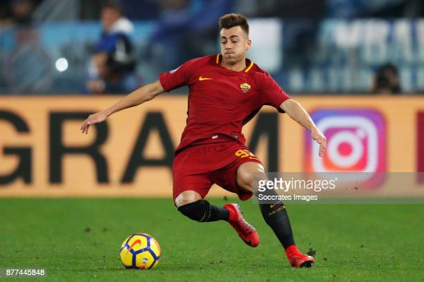 Stephan El Shaarawy of AS Roma during the Italian Serie A match between AS Roma v Lazio at the Stadio Olimpico on November 18 2017 in Rome Italy