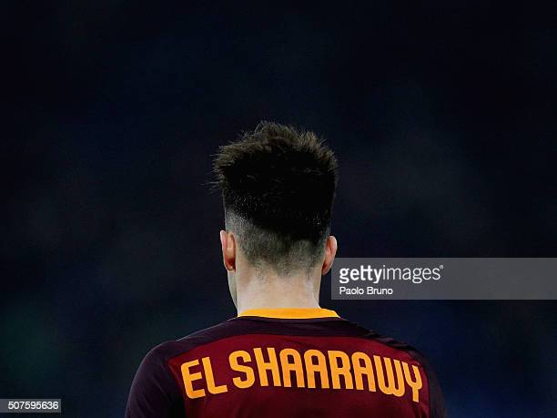 Stephan El Shaarawy of AS Roma during the Serie A match between AS Roma and Frosinone Calcio at Stadio Olimpico on January 30 2016 in Rome Italy
