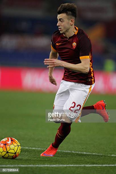 Stephan El Shaarawy of AS Roma in action during the Serie A match between AS Roma and Frosinone Calcio at Stadio Olimpico on January 30 2016 in Rome...
