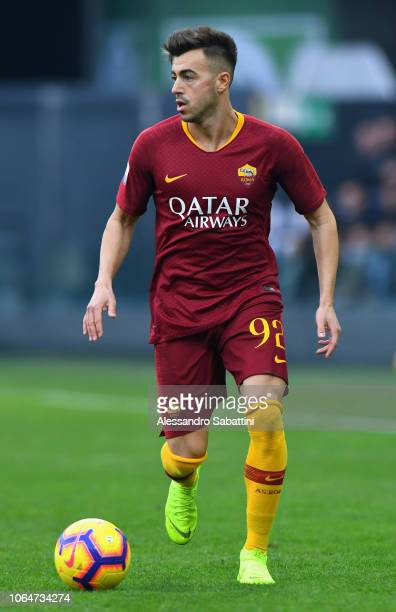 Stephan El Shaarawy of AS Roma in action during the Serie A match between Udinese and AS Roma at Stadio Friuli on November 24, 2018 in Udine, Italy.