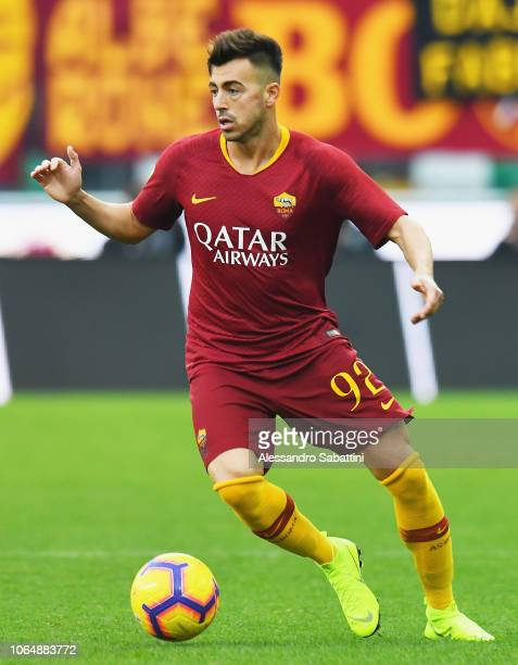 Stephan El Shaarawy of AS Roma in action during the Serie A match between Udinese and AS Roma at Stadio Friuli on November 24 2018 in Udine Italy