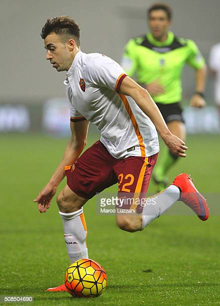 Stephan El Shaarawy of AS Roma in action during the Serie A match between US Sassuolo Calcio and AS Roma at Mapei Stadium Città del Tricolore on...