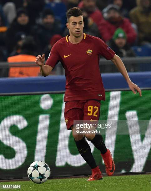 Stephan El Shaarawy of AS Roma in action during the UEFA Champions League group C match between AS Roma and Qarabag FK at Stadio Olimpico on December...