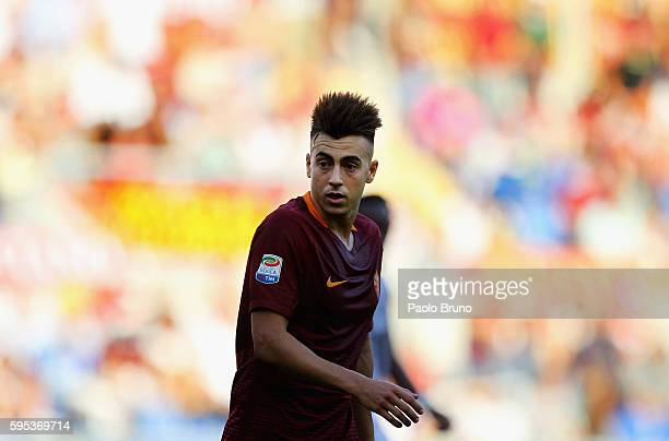 Stephan El Shaarawy of AS Roma looks on during the Serie A match between AS Roma and Udinese Calcio at Olimpico Stadium on August 20 2016 in Rome...