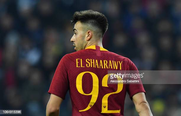 Stephan El Shaarawy of AS Roma looks on during the Serie A match between Udinese and AS Roma at Stadio Friuli on November 24, 2018 in Udine, Italy.