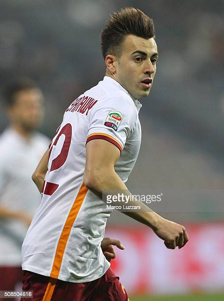 Stephan El Shaarawy of AS Roma looks on during the Serie A match between US Sassuolo Calcio and AS Roma at Mapei Stadium Città del Tricolore on...