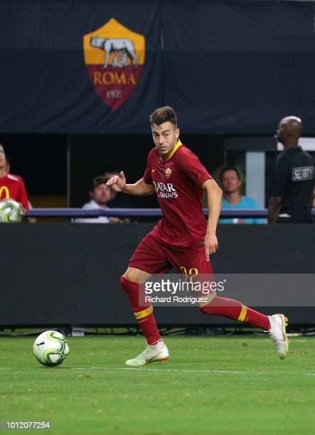 Stephan El Shaarawy of AS Roma move the ball down the field in the second half of the International Champions Cup match against FC Barcelona at ATT...