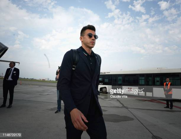 Stephan El Shaarawy of Italy arrives in Turin Airport on June 9, 2019 in Turin, Italy.