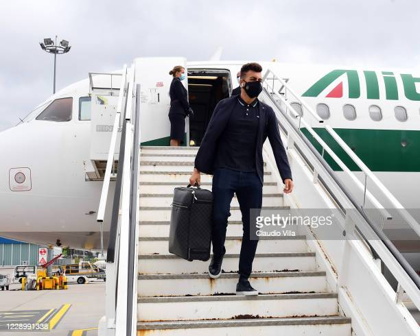 Stephan El Shaarawy of Italy arrives to Gdansk Airport on October 10, 2020 in Gdansk, Poland.