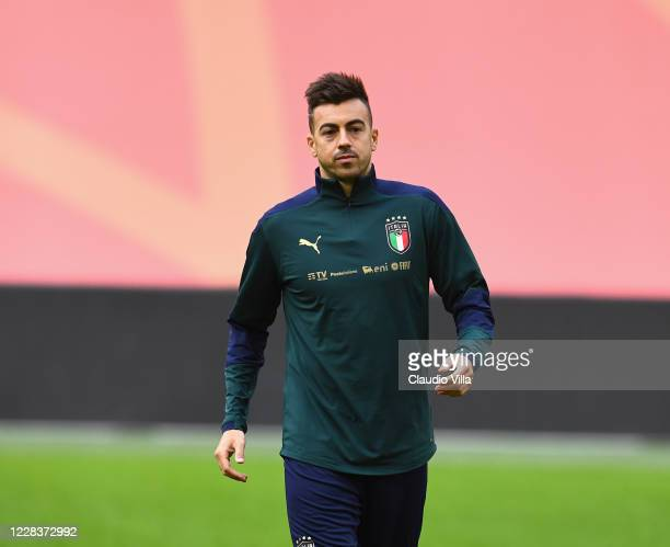 Stephan El Shaarawy of Italy during a training session ahead of the UEFA Nations League Group A1 match against Netherlands at Johan Cruijff Arena on...