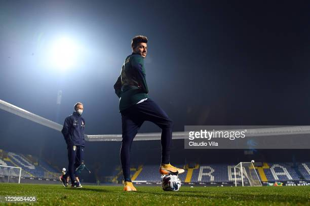 Stephan El Shaarawy of Italy in action ahead of the UEFA Nations League group stage match between Bosnia-Herzegovina and Italy at Bilino Polje...