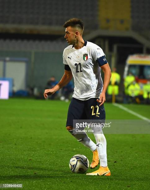 Stephan El Shaarawy of Italy in action during the international friendly match between Italy and Moldova at Artemio Franchi on October 7, 2020 in...