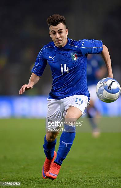 Stephan El Shaarawy of Italy in action during the international friendly match between Italy and Romania at Stadio Renato Dall'Ara on November 17...