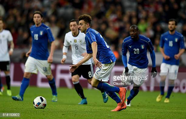 Stephan El Shaarawy of Italy in action during the international friendly match between Germany and Italy at Allianz Arena on March 29 2016 in Munich...