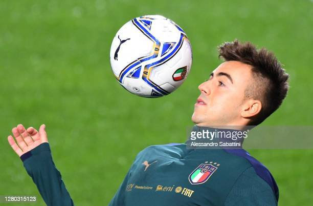 Stephan El Shaarawy of Italy in action of Italy during the UEFA Nations League group stage match between Italy and Netherlands at Stadio Atleti...