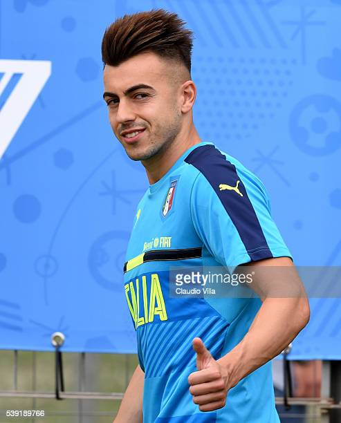 Stephan El Shaarawy of Italy looks on during the training session at 'Bernard Gasset' Training Center on June 10 2016 in Montpellier France