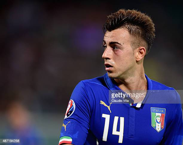 Stephan El Shaarawy of Italy looks on during the UEFA EURO 2016 Qualifier match between Italy and Bulgaria on September 6 2015 in Palermo Italy