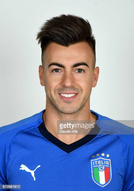 Stephan El Shaarawy of Italy poses during the official portrait session at Coverciano on November 6 2017 in Florence Italy