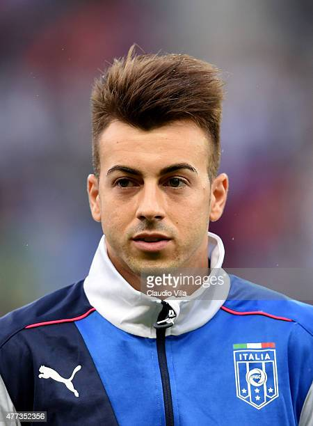 Stephan El Shaarawy of Italy poses prior to the international friendly match between Portugal and Italy at Stade de Geneve on June 16 2015 in Geneva...