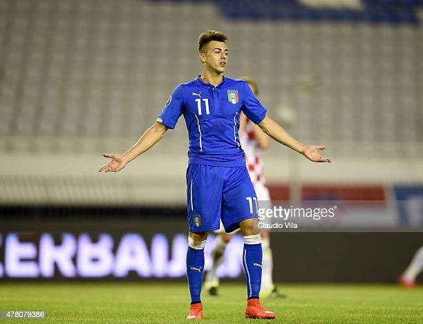 Stephan El Shaarawy of Italy reacts during rhe UEFA Euro 2016 Qualifier between Croatia and Italy on June 12 2015 in Split Croatia