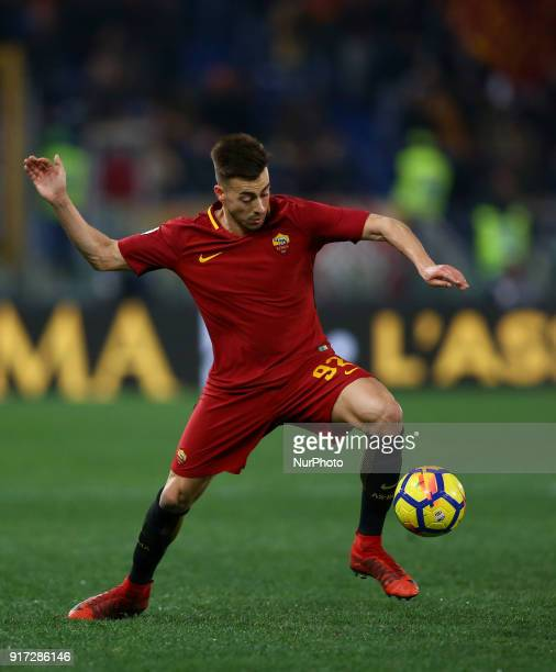 Stephan El Shaarawy of Roma during the serie A match between AS Roma and Benevento Calcio at Stadio Olimpico on February 11 2018 in Rome Italy