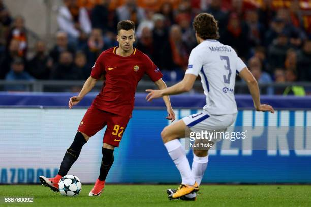 Stephan El Shaarawy of Roma during the UEFA Champions League football match AS Roma vs Chelsea on October 31 2017 at the Olympic Stadium in Rome