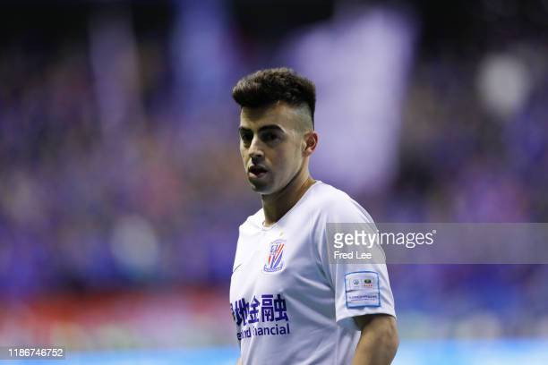 Stephan El Shaarawy of Shanghai Greenland Shenhua in action during the award ceremony after the 2019 CFA Cup Final - Shanghai Greenland Shenhua v...