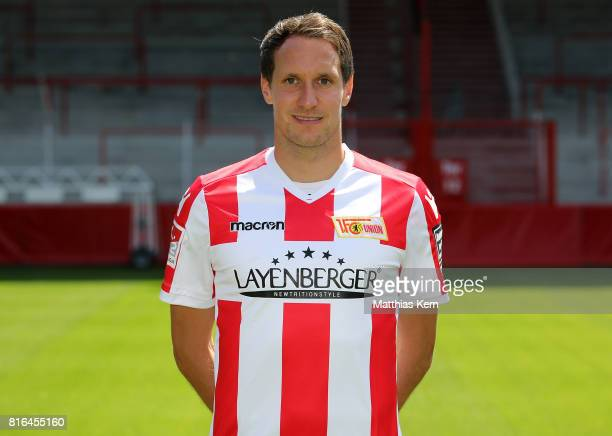 Stephan Fuerstner of 1 FC Union Berlin poses during the team presentation at Stadion an der Alten Foersterei on July 17 2017 in Berlin Germany