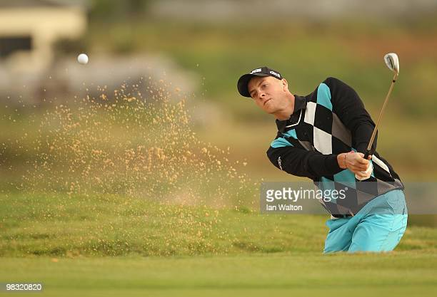 Stephan Gross JR of Germany in action during the first round of the Madeira Islands Open at the Porto Santo golf club on April 8 2010 in Porto Santo...