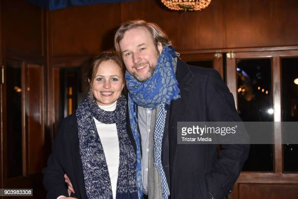 Stephan Grossmann and his wife Lidija attend the 'Frau Luna' premiere on January 11, 2018 in Berlin, Germany.