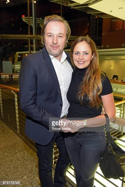 Stephan Grossmann and his wife Lidija Grossmann attend the 'Boybands Forever' Premiere at Theater am Potsdamer Platz on February 1, 2018 in Berlin,...
