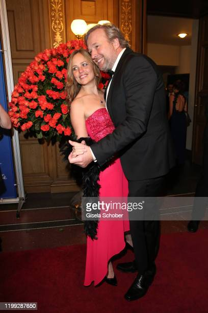 Stephan Grossmann and his wife Lidija Grossmann during the 15th Semper Opera Ball 2020 at Semperoper on February 7, 2020 in Dresden, Germany.