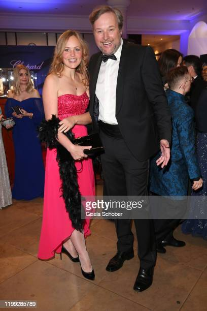 Stephan Grossmann and his wife Lidija Grossmann during the reception prior the 15th Semper Opera Ball 2020 at the Taschenbergpalais near Semperoper...
