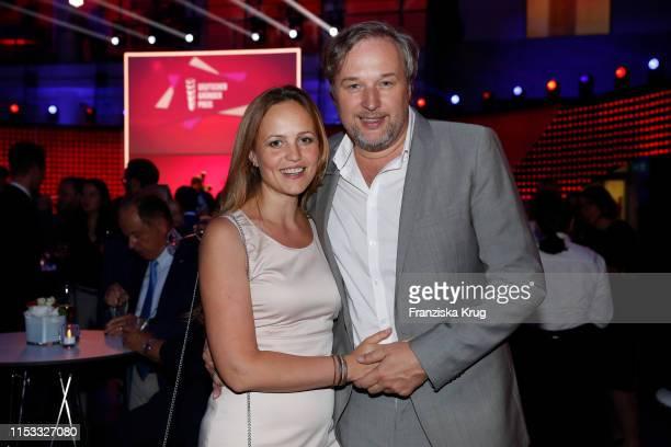 Stephan Grossmann and Lidija Grossmann during the Deutscher Gruenderpreis 2019 at ZDF Hauptstadtstudio on July 2, 2019 in Berlin, Germany.