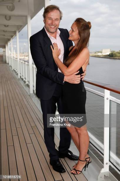 Stephan Grossmann and Lidija Grossmann during the FASHION2NIGHT event on board the EUROPA 2 on August 17, 2018 in Hamburg, Germany.