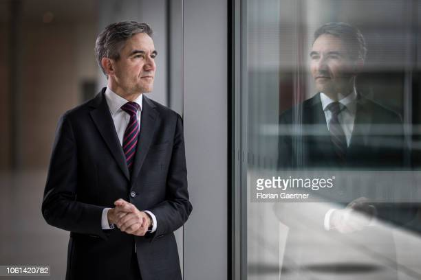 Stephan Harbarth designated judge at the Federal Constitutional Court poses for a photo on November 14 2018 in Berlin Germany