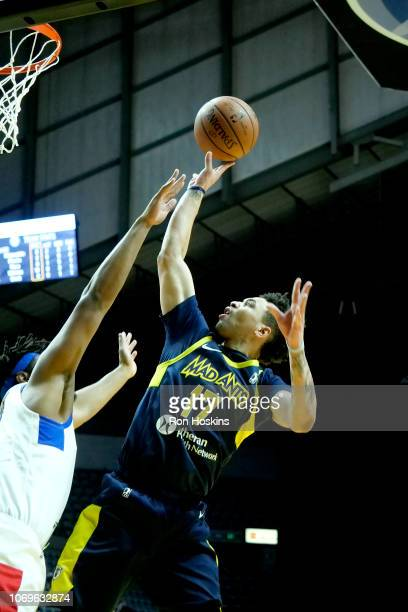 Stephan Hicks of the Fort Wayne Mad Ants shoots the ball against the Long Island Nets on December 7 2018 at Allen County War Memorial Coliseum in...