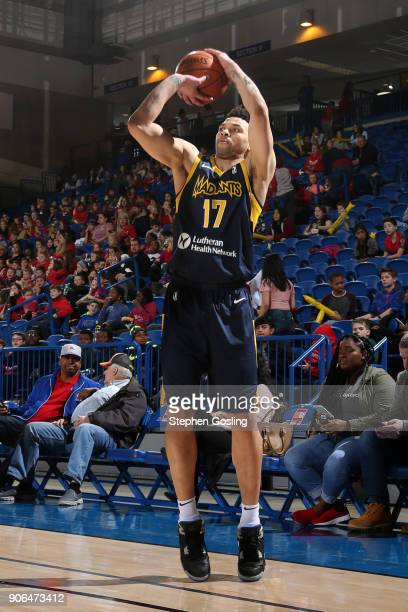 Stephan Hicks of the Fort Wayne Mad Ants shoots the ball against the Delaware 87ers during a GLeague at the Bob Carpenter Center in Newark Delaware...